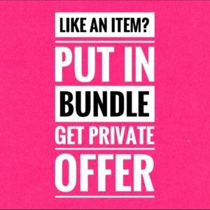 One item bundles are okay too! I'll send an offer!